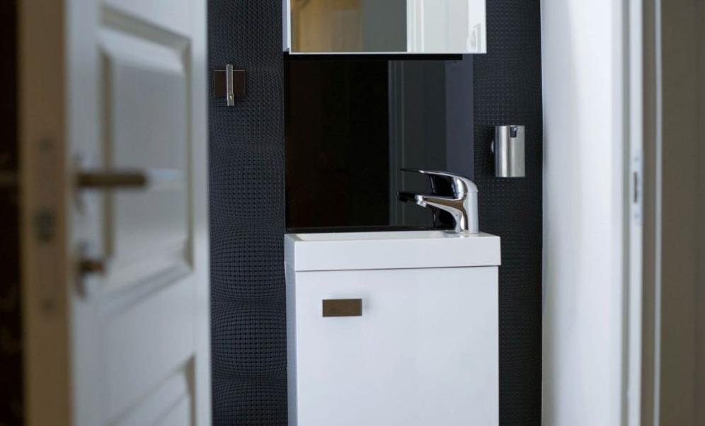 En renoverad badrum i Arsta STockholm